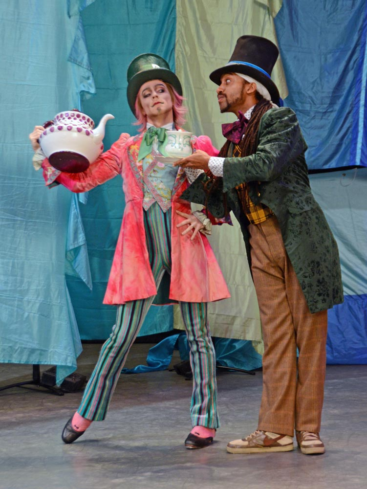 Mad Hatters Dance Off with Steven McRae, Principal dancer with The Royal Ballet and Turbo from ZooNation.<br />© Dave Morgan, courtesy the Royal Opera House. (Click image for larger version)