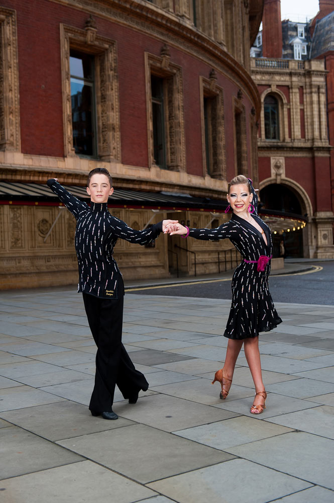 "Oliver Beardmore and Lydia Hall outside the Royal Albert Hall, location for Dance Proms 2014.<br />© David Tett at <a href=""http://www.davidtett.com/"">www.davidtett.com</a>. (Click image for larger version)"