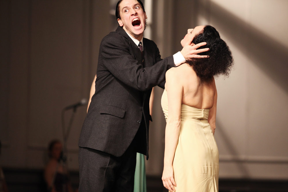 Cristiana Morganti and Aleš Cucek in Pina Bausch's <I>Kontakthof</I>.<br />© Julieta Cevantes. (Click image for larger version)