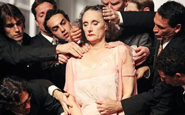 Nazareth Panadero in Pina Bausch's Kontakthof.© Julieta Cevantes. (Click image for larger version)