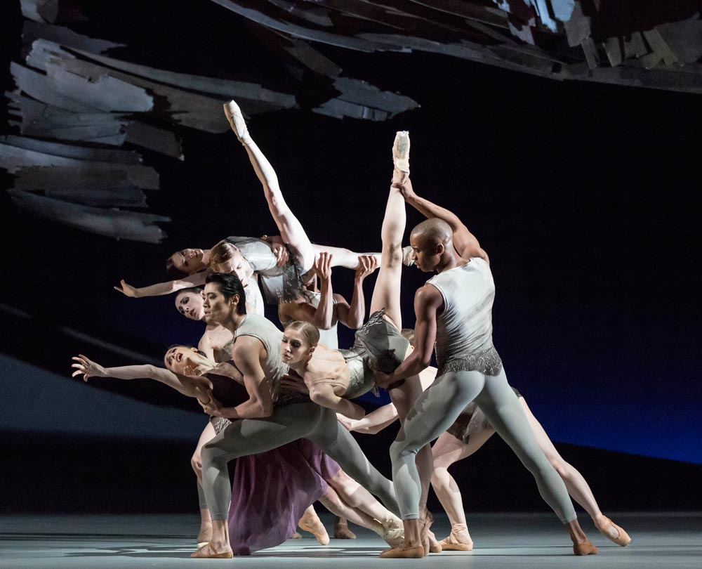 The Royal Ballet in Christopher Wheeldon's Aeternum.© ROH / Johan Persson, 2013. (Click image for larger version)