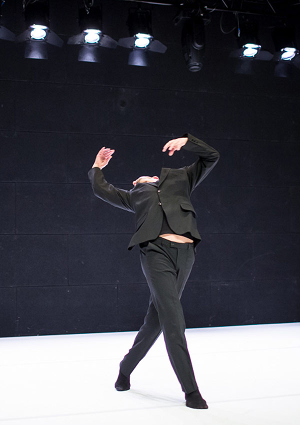 Tomasz Wygoda performing in his <I>Nijinsky. The Rite of Dreams</I>.<br />© Jakub Wittchen. (Click image for larger version)