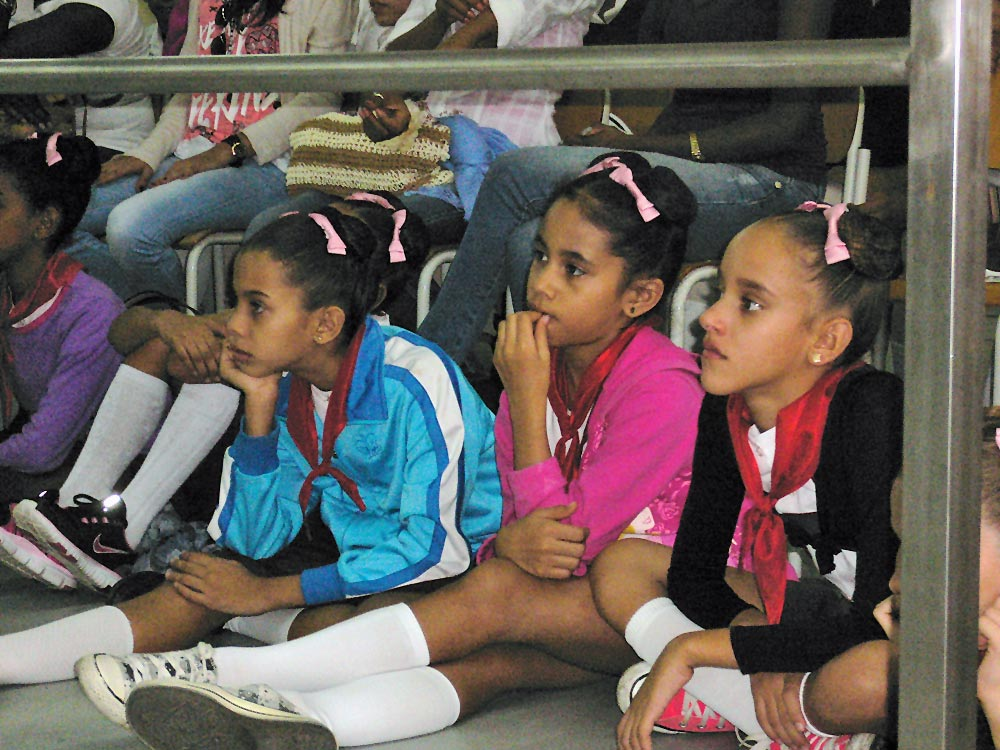 Future Cuban ballerinas at a master class.© Margaret Willis. (Click image for larger version)