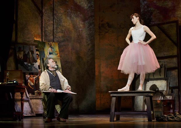 Boyd Gaines and Tiler Peck in <I>Little Dancer</I>.<br />© Paul Kolnik. (Click image for larger version)
