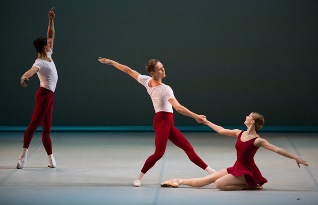 Angelina Vorontsova and Leonid Sarafanov in <I>Class Concert</I>.<br />© Stas Levshin. (Click image for larger version)