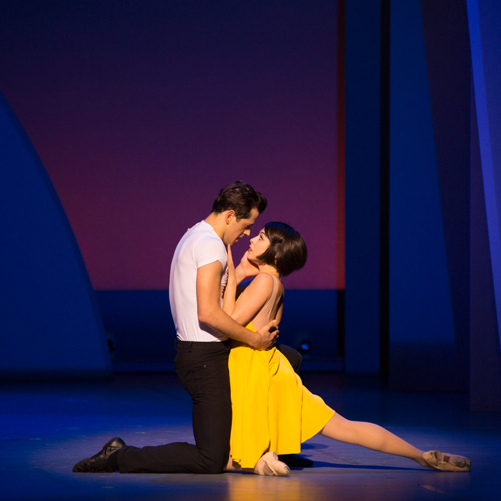 Leanne Cope and Robert Fairchild in <I>An American in Paris</I>.<br />© Angela Sterling. (Click image for larger version)