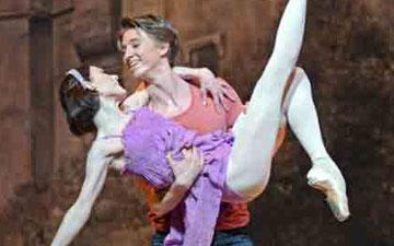 Sarah Lamb and Vadim Muntagirov in Alice's Adventures in Wonderland.© Dave Morgan, courtesy the Royal Opera House. (Click image for larger version)