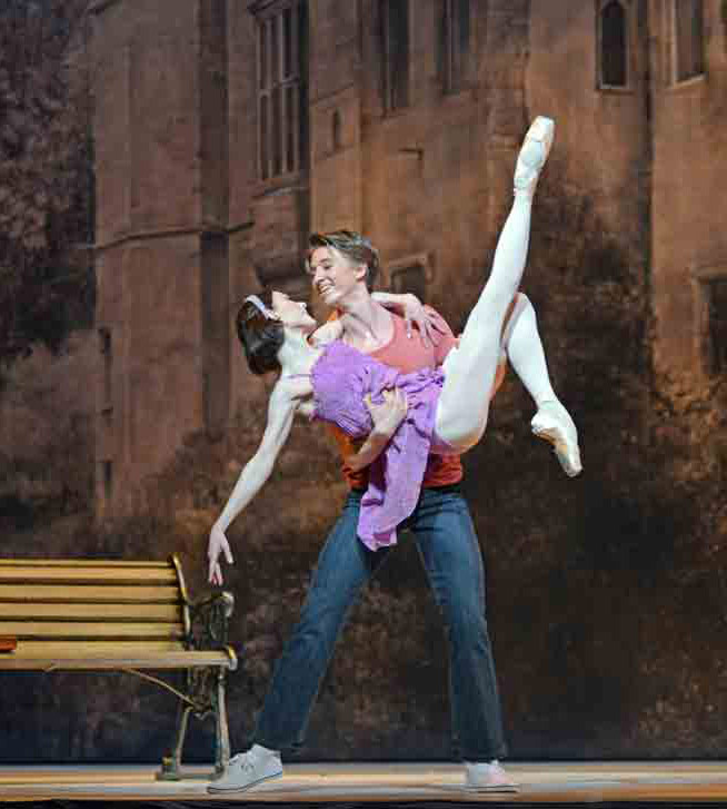 Sarah Lamb and Vadim Muntagirov in <I>Alice's Adventures in Wonderland</I>.<br />© Dave Morgan, courtesy the Royal Opera House. (Click image for larger version)