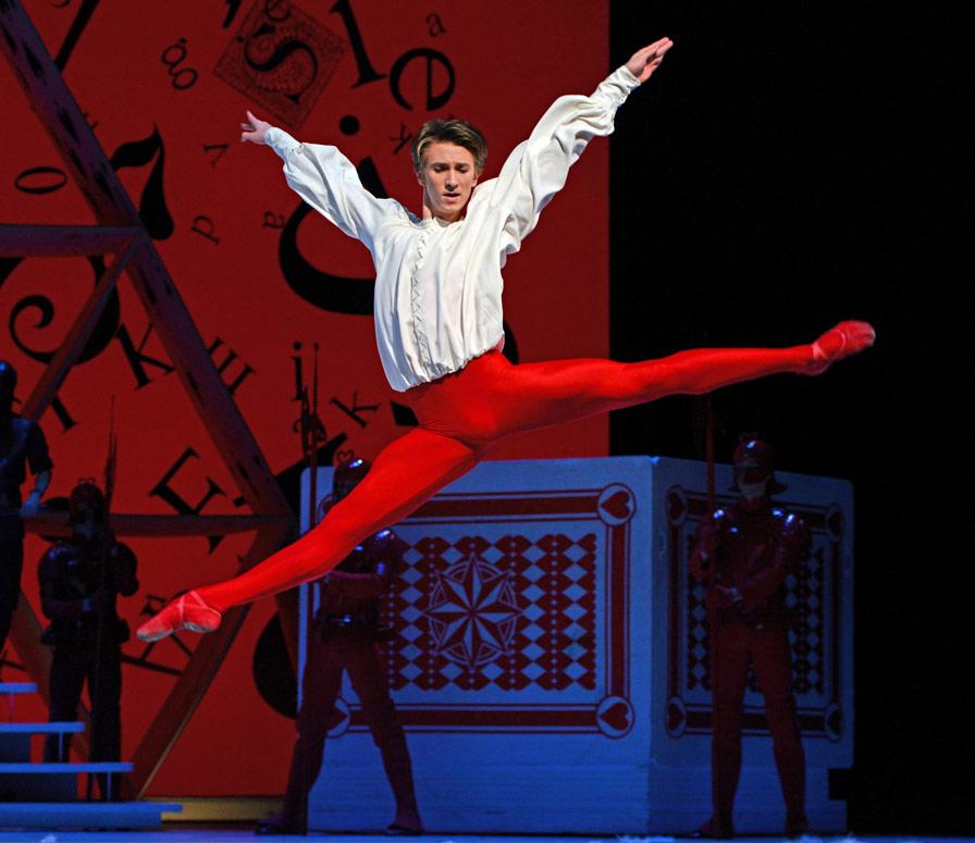 Vadim Muntagirov in <I>Alice's Adventures in Wonderland</I>.<br />© Dave Morgan, courtesy the Royal Opera House. (Click image for larger version)