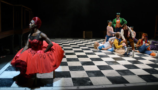 Teneisha Bonner in <I>The Mad Hatter's Tea Party</I>.<br />© Dave Morgan, courtesy the Royal Opera House. (Click image for larger version)