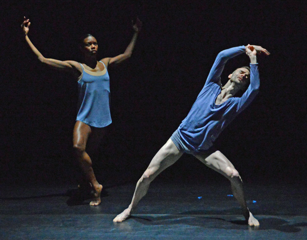 Adam Blyde and Carolyn Bolton in Luke Ahmet's Unspoken Dialect.© Dave Morgan. (Click image for larger version)
