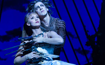 Ashley Shaw and Dominic North in Edward Scissorhands.© Foteini Christofilopoulou. (Click image for larger version)