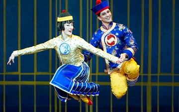Marian Butler and Joseph Gorak (Chinesse) in The Nutcracker.© Gene Schiavone. (Click image for larger version)