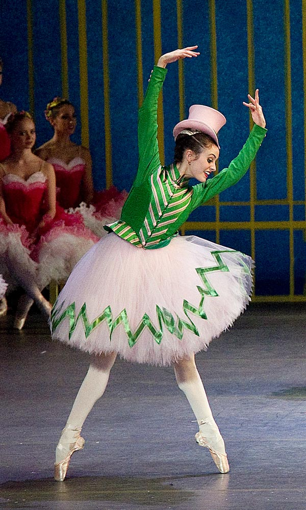 Melanie Hamrick as one of the Nutcracker's Sisters in <I>The Nutcracker</I>.<br />© Gene Schiavone. (Click image for larger version)
