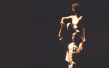 Sylvie Guillem and Russell Maliphant in Push, taken in 2005. From a John Ross Gallery of 6 images.© John Ross.