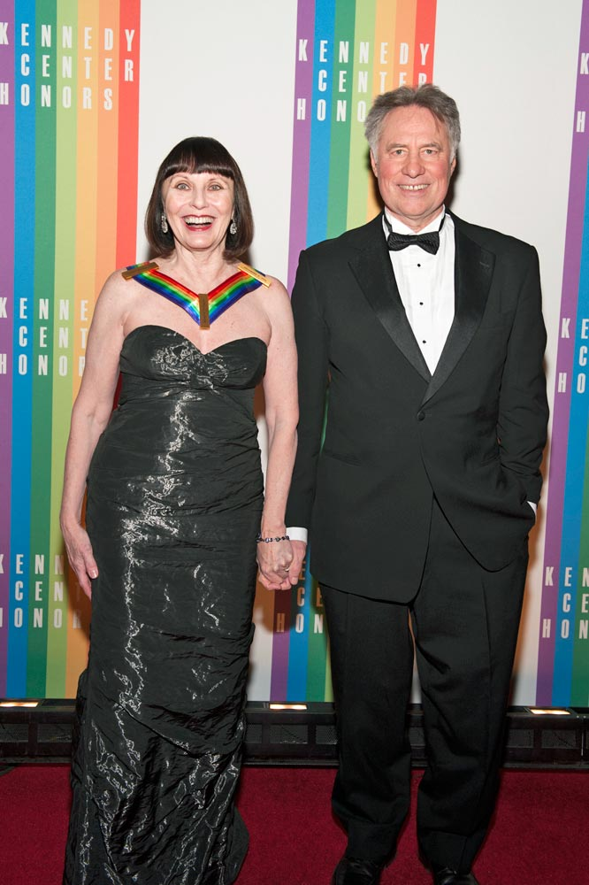 Patricia McBride and husband Jean-Pierre Bonnefoux on the red carpet.<br />© Margot Schulman. (Click image for larger version)