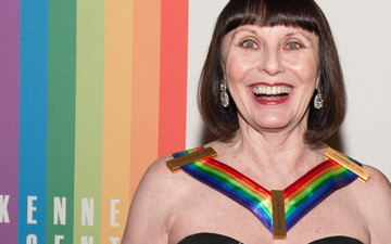 Patricia McBride on the red carpet.© Margot Schulman. (Click image for larger version)