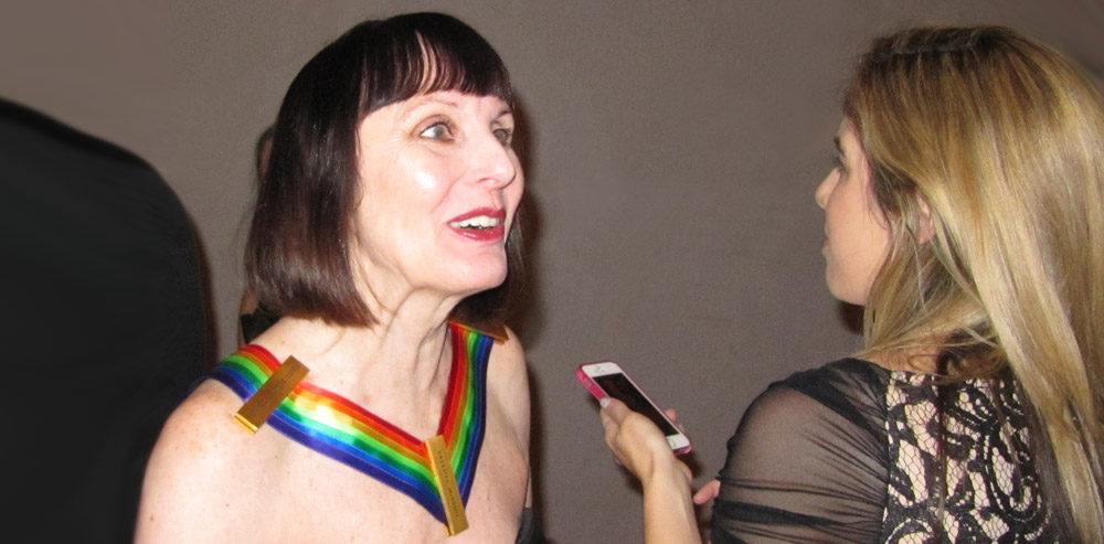 Patricia McBride being interviewed on the red carpet.<br />© Oksana Khadarina. (Click image for larger version)