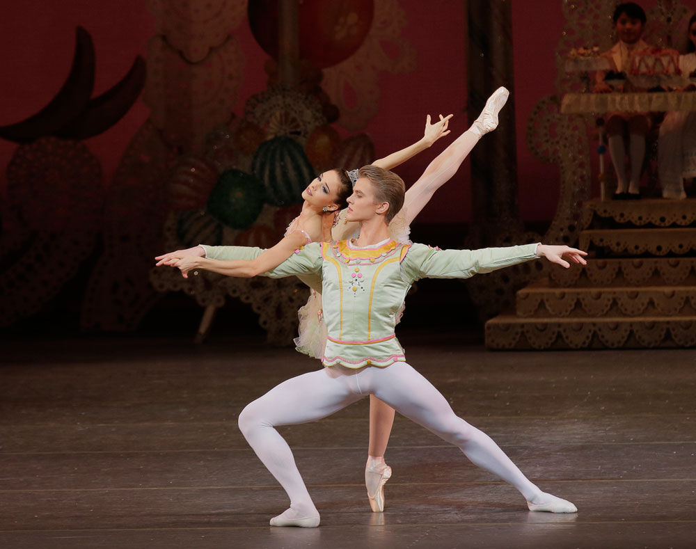 Lauren Lovette and Chase Finlay in Balanchine's The Nutcracker.© Paul Kolnik. (Click image for larger version)