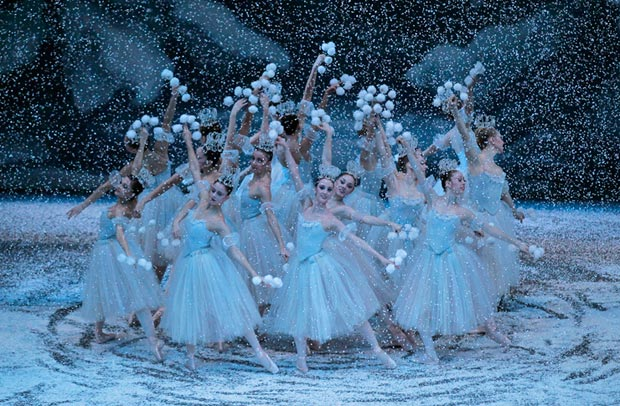 New York City Ballet in Balanchine's <I>The Nutcracker</I>.<br />© Paul Kolnik. (Click image for larger version)