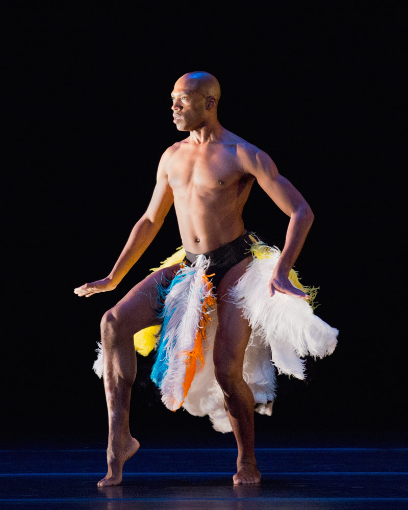 Antonio Douthit-Boyd in Asadata Dafora's Awassa Astrige/Ostrich.© Paul Kolnik. (Click image for larger version)