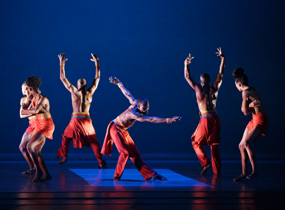Alvin Ailey American Dance Theater in Robert Moses' <I>The Pleasure of the Lesson</I>.<br />© Paul Kolnik. (Click image for larger version)