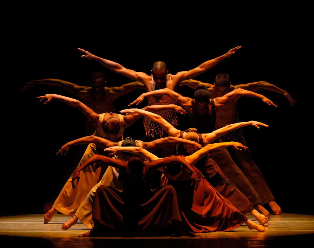 Alvin Ailey American Dance Theater in Revelations.© Paul Kolnik. (Click image for larger version)