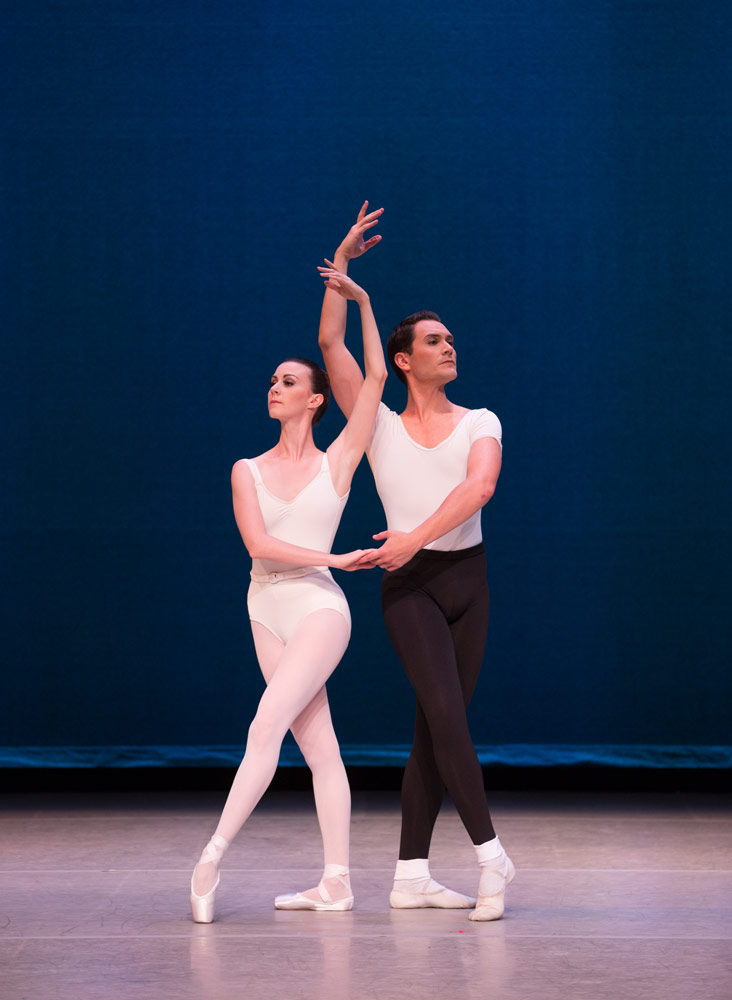 Elisabeth Holowchuk and Michael Cook in <I>Movements for Piano and Orchestra</I>.<br />© Rosalie O'Connor. (Click image for larger version)