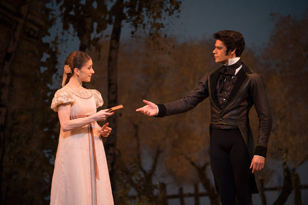 Thiago Soares and Marianela Nunez in Onegin.© Bill Cooper Photograph. © 2013 The Royal Opera House / Bill Cooper. (Click image for larger version)