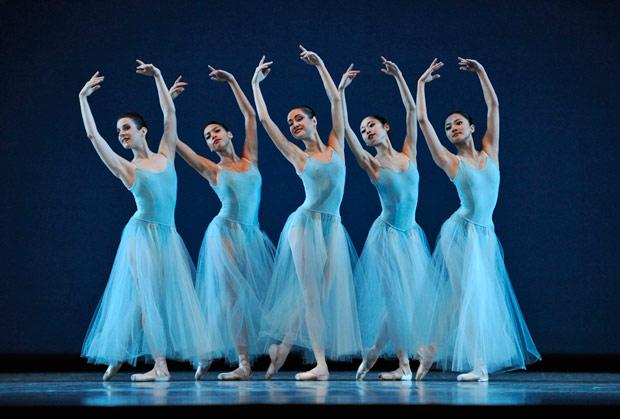 San Francisco Ballet in Balanchine's <I>Serenade</I>.<br />© Erik Tomasson. (Click image for larger version)