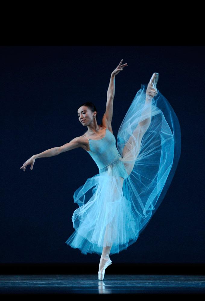 Frances Chung in Balanchine's <I>Serenade</I>.<br />© Erik Tomasson. (Click image for larger version)