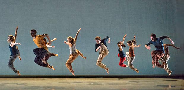 Richard Alston Dance Company in <I>Nomadic</I>.<br />© Foteini Christofilopoulou. (Click image for larger version)