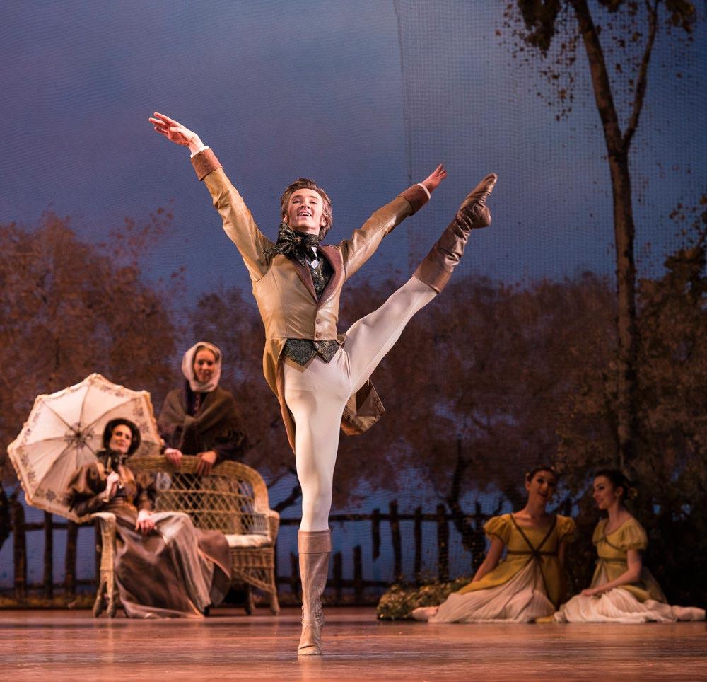 Vadim Muntagirov in <I>Onegin</I>.<br />© Foteini Christofilopoulou, courtesy the Royal Opera House. (Click image for larger version)