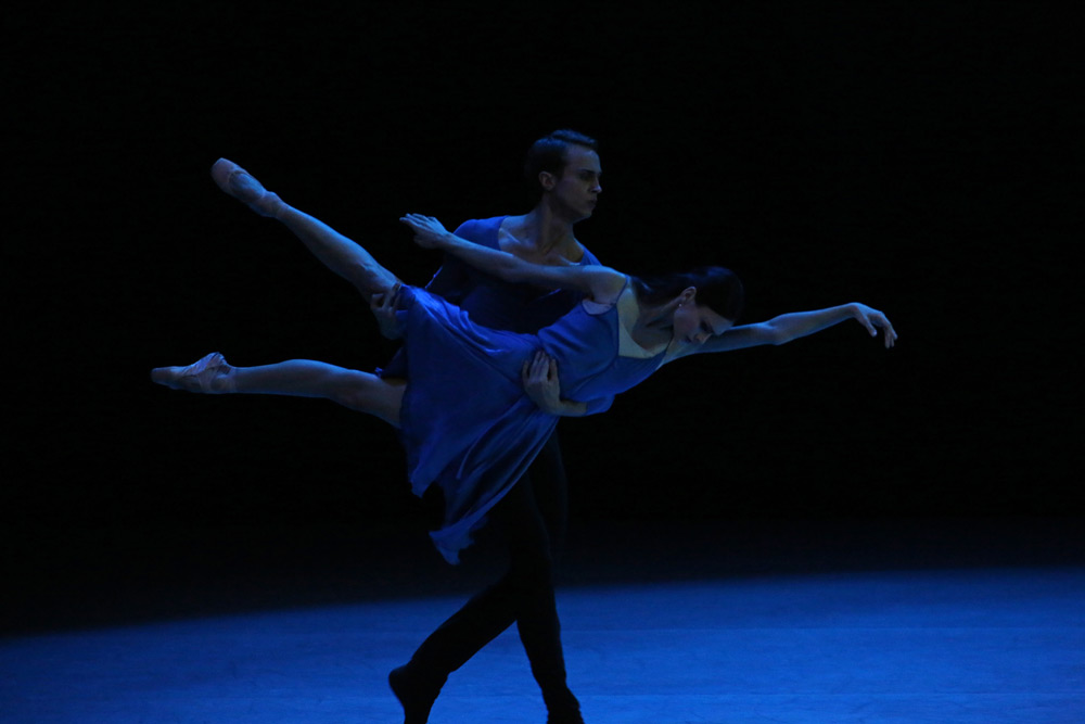 Kristina Shapran and Andrei Yermakov in Benjamin Millepied's <I>Without</I>.<br />© Julieta Cervantes. (Click image for larger version)