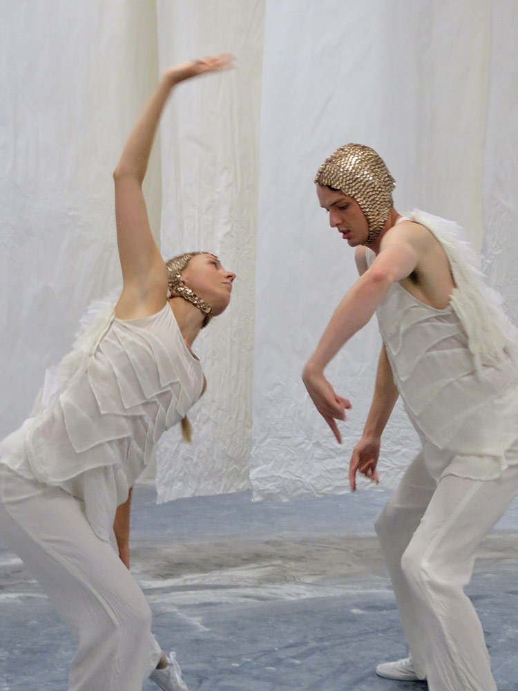 Laura Wood and Sam Young-Wright in Inside There Falls.© Michelle Potter. (Click image for larger version)