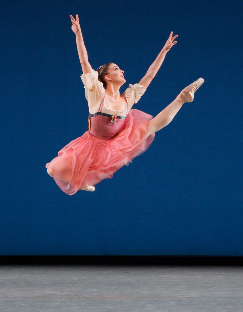 Ashley Bouder in <I>Donizetti Variations</I>.<br />© Paul Kolnik. (Click image for larger version)