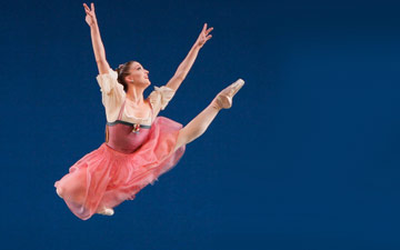 Ashley Bouder in Donizetti Variations.© Paul Kolnik. (Click image for larger version)