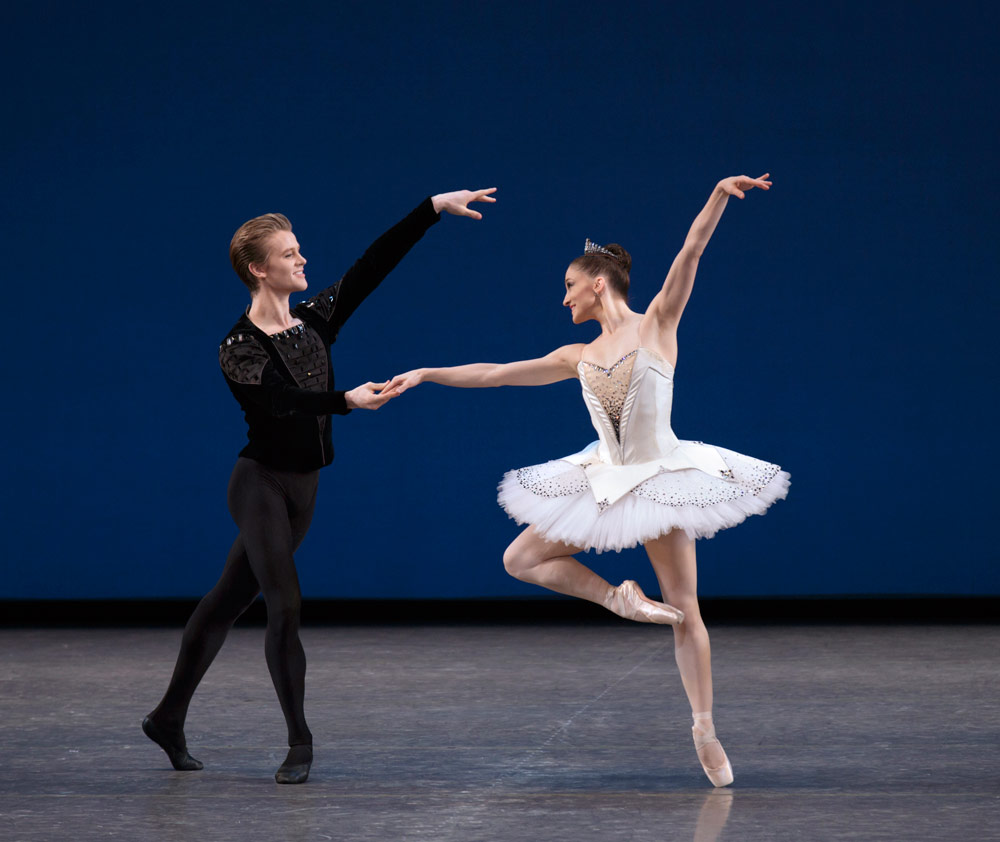 Ashley Bouder and Chase Finlay in <I>Symphony in C</I>.<br />© Paul Kolnik. (Click image for larger version)