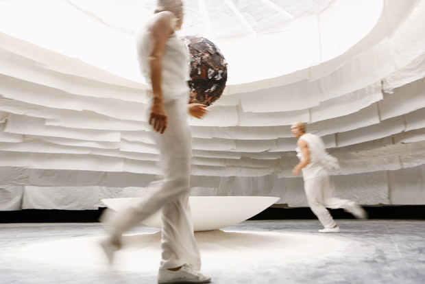 Sydney Dance Company dancers in Mira Calix's <i>Inside There Falls</i> installation.<br />© Prudence Upton. (Click image for larger version)