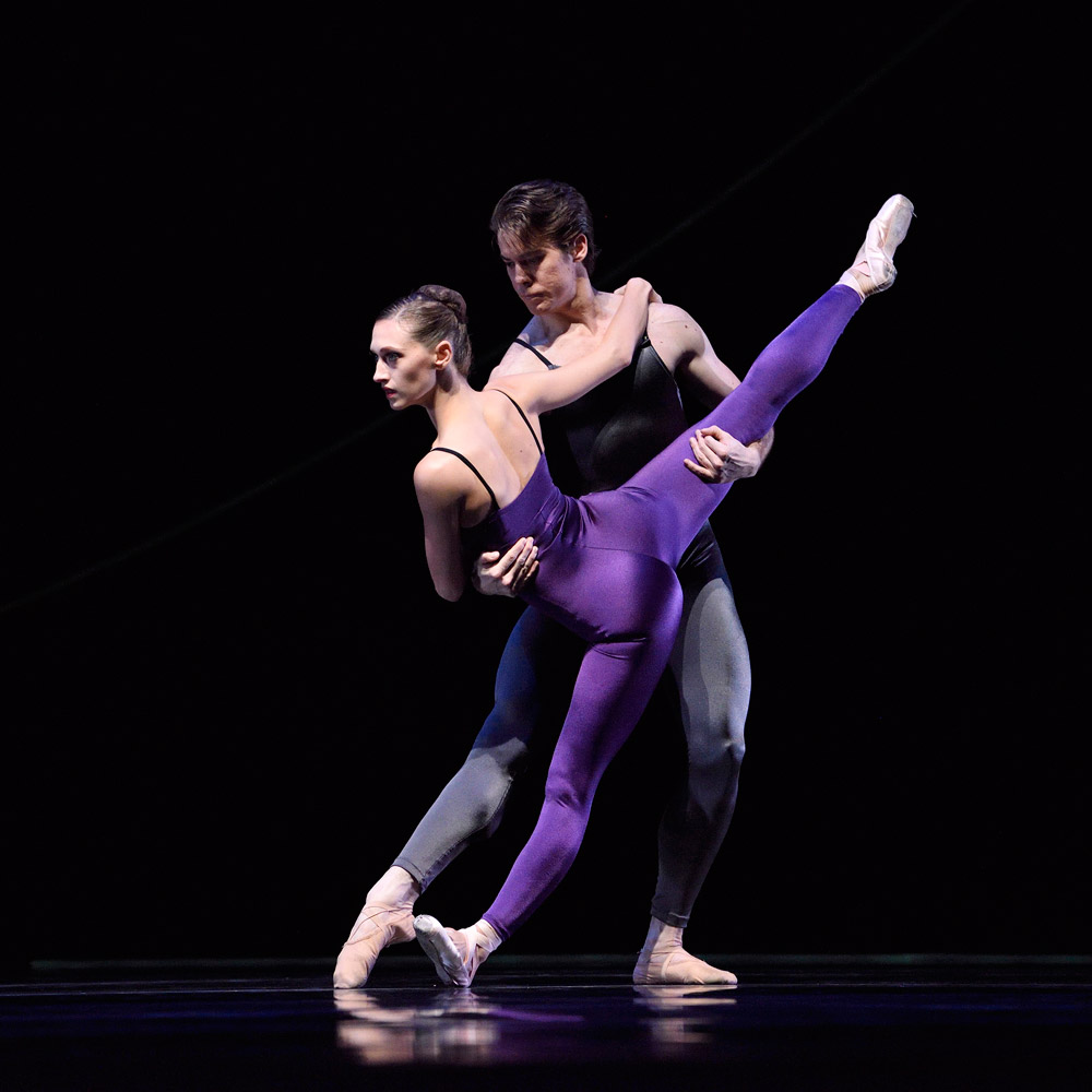 Sarah Van Patten and Carlos Quenedit in van Manen's <I>Variations For Two Couples</I>.<br />© Erik Tomasson. (Click image for larger version)