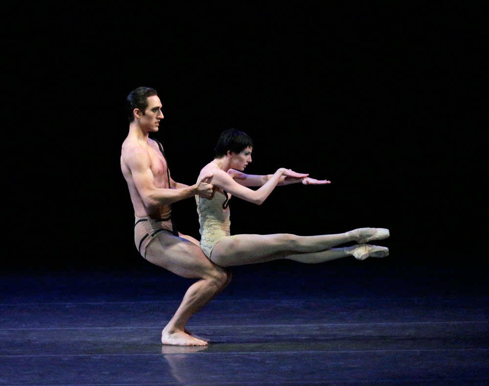 Justin Peck and Sterling Hyltin in The Cage.© Paul Kolnik. (Click image for larger version)