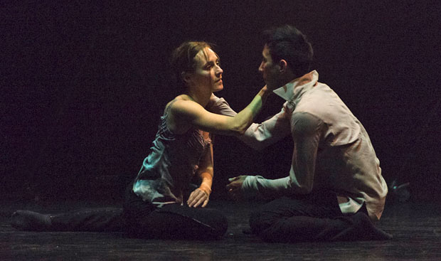 Anne Plamondon and Peter Chu in Crystal Pite's <I>A Picture of You Falling</I>.<br />© Foteini Christofilopoulou. (Click image for larger version)