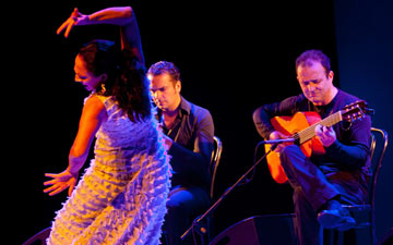 Carmen Cortés with Gerardo Núñez and musicians In Concert.© Grzegorz Ziemianski, www.fotohuta.pl. (Click image for larger version)