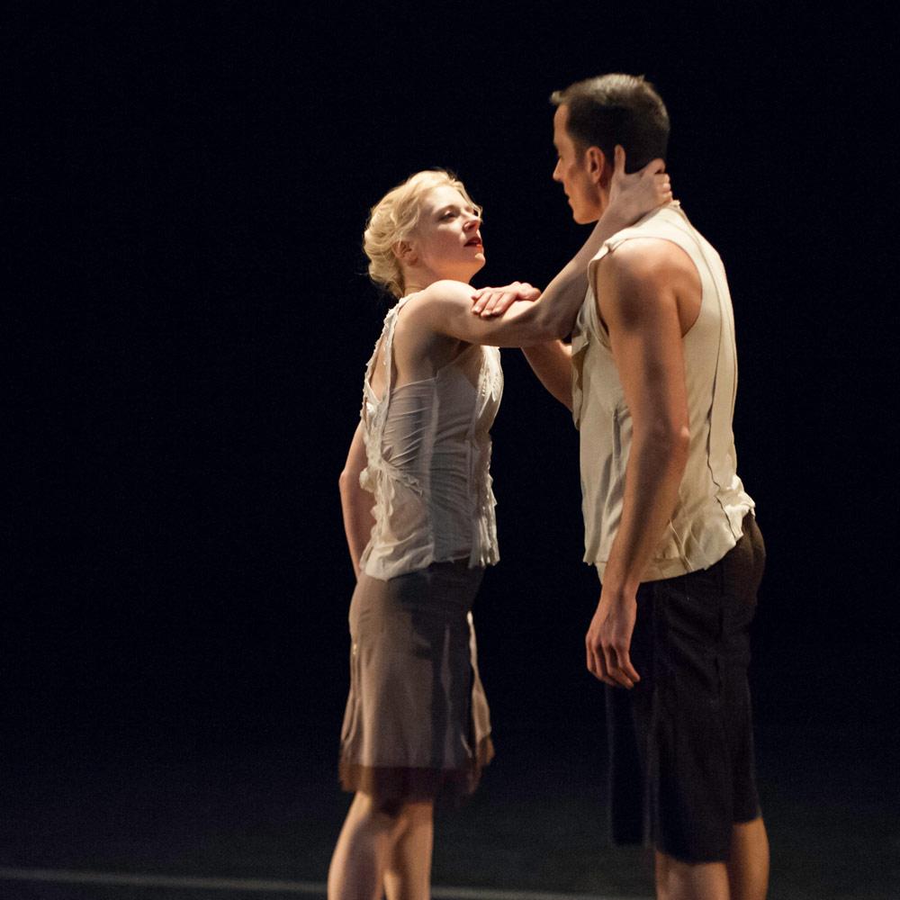 Leslie Kraus and Douglas Gillespie in <I>Bridge of Sighs</I>.<br />© Keira Heu-Jwyn Chang. (Click image for larger version)