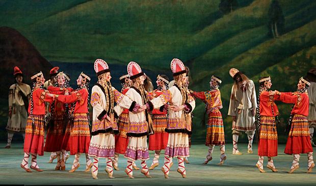 Mariinsky Ballet in <I>Le Sacre du Printemps</I>.<br />© Natasha Razina. (Click image for larger version