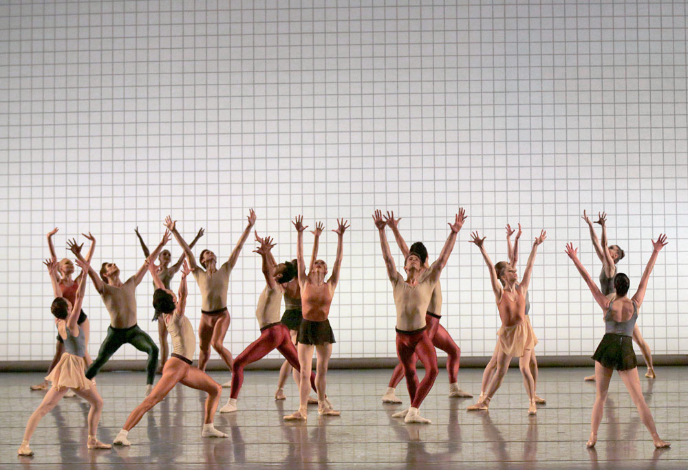 New York City Ballet in Jerome Robbins' Glass Pieces.© Paul Kolnik. (Click image for larger version)