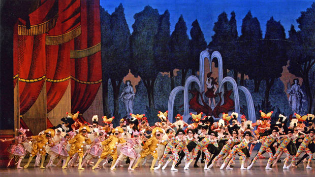 New York City Ballet in <I>Harlequinade</I>.<br />© Paul Kolnik. (Click image for larger version)