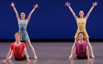 New York City Ballet in Jerome Robbins' Interplay.© Paul Kolnik. (Click image for larger version)