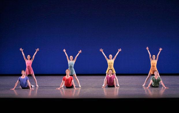 New York City Ballet in Jerome Robbins' <I>Interplay</I>.<br />© Paul Kolnik. (Click image for larger version)