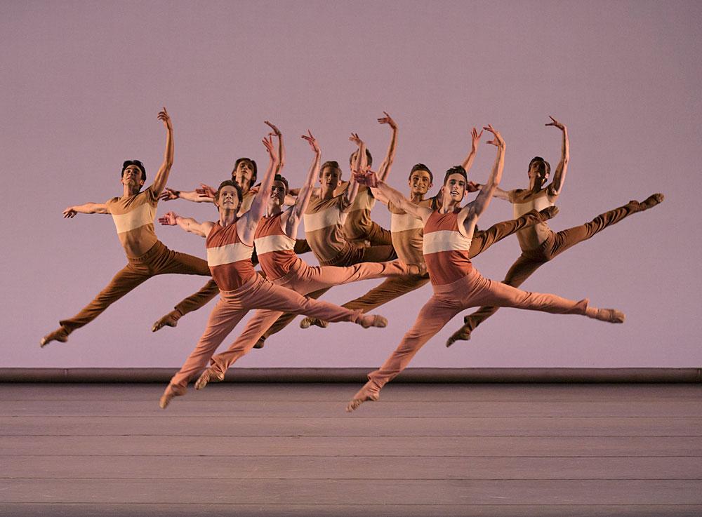 NYCB in Justin Peck's <I>'Rode,o: Four Dance Episodes</I>.<br />© Paul Kolnik. (Click image for larger version)